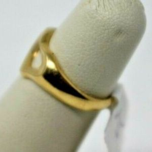 Tiffany & Co. Jewelry - 18K Yellow Gold Ladies Tiffany and Co Heart Ring